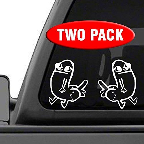 Dick Butt Figure   2 Pack   Vinyl Decal Sticker Funny Meme Reddit Dickbutt