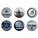 "NFL Dallas Cowboys WCR97916301 Round Button (6 Pack), 2"""