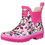 Joules Girls Jnr Wellibob Rain Boot, Cream Ditsy, 8 Medium UK Little Kid (9 US)