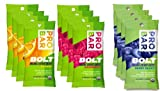 Probar Bolt Organic Energy Chews Set Mixed Berry, Orange and Raspberry - Four of Each Flavor, Box of 12