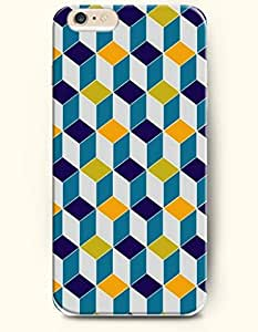 Blue And Yellow Cube - Geometric Pattern - Phone Cover for Apple iPhone 6 Plus ( 5.5 inches ) - OOFIT Authentic iPhone Case