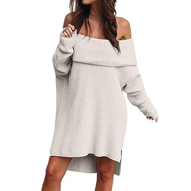Sylar Vestidos Corta Mujer Casual Otoño Invierno Moda Color Sólido ...