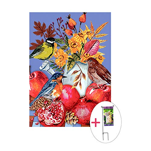 birds house flag double sided