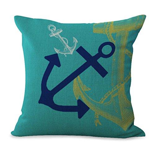 Amazon.com: Sailor Anchor playa Cushion Cover Home Interiors ...