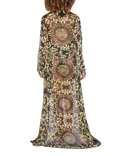 Taille de Manteau XL Maillot Bain Impression Sexy Noir XIAOXAIO de divis Mode Couleur qBBnSP1RXw
