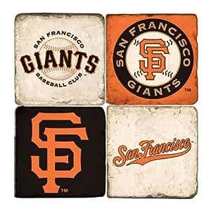 Studio Vertu MLB Teams Marble Coasters San Francisco Giants