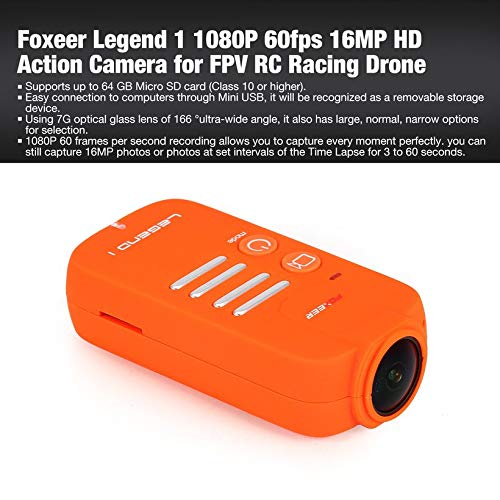 Wikiwand Foxeer Legend 1 1080P 60fps 16MP HD Action Camera for FPV RC Racing Drone by Wikiwand (Image #2)