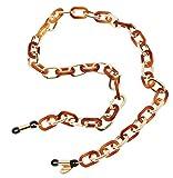 L. Erickson Sarafine Metal Link Eyeglass Chain - Tortoise/Gold