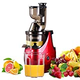 """Slow Masticating Juicer Caynel Cold Press Extractor with 3"""" Wide Chute for Fruits"""