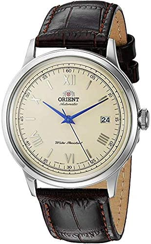 Orient Men s 2nd Gen. Bambino Ver. 2 Japanese Automatic Stainless Steel and Leather Dress Watch