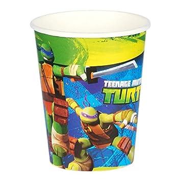 Lote de 8 vasos de cartón Tortugas Ninja: Amazon.es ...