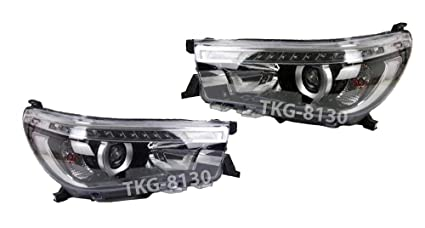 L.E.D Projector Headlight Lamp For Toyota Hilux Revo M70 2015 2016 2017 2018