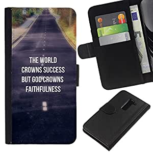 BearCase / Cuero de la tarjeta la carpeta del tirón Smartphone Slots Protección Holder /// LG G2 D800 /// BIBLIA La Coronas Éxito Mundial