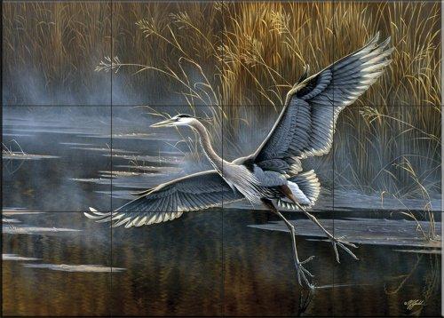 Ceramic Tile Mural - Misty Flight - by Wilhelm Goebel - Kitchen backsplash/Bathroom Shower