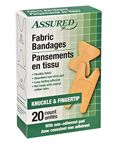 Knuckle And Fingertip Fabric Bandages - 20 Count Box