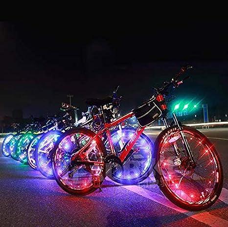 Led para radios de Bicicleta Impermeables 28 Leds Rayos Montar al Aire Libre con 32 Cambios de Patr/ón Diferente SOULBEST LED Luces de Rueda de Bicicleta