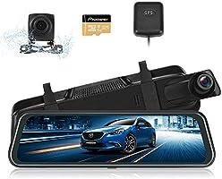 SUNVIC ドライブレコーダー ミラー型 前後カメラ GPS機能搭載 1296PフルHD フロントカメラ 9.66インチ 超大きフルスクリーン タッチパネル 前170°後140°広角レンズ GPS搭載 ループ録画 駐車監視 Gセンサー...