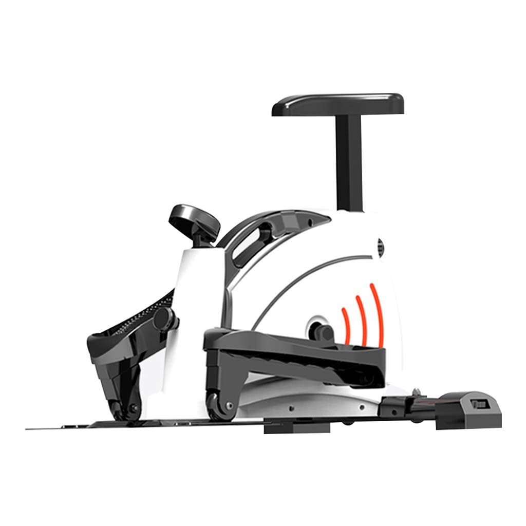 Stepper Weight Loss Mini Magnetic Control Elliptical Jogger Step On The Pedal Station to Sit Dual-Use Knee Pads Injury-Free Running Small Home Fitness Equipment Rosclou@
