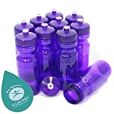 Rolling Sands BPA Free 24oz Drink Bottles Purple (10 Pk, Made in USA)
