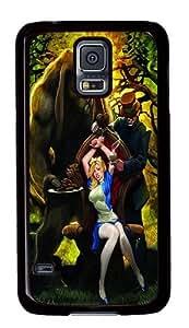 Alice in Wonderland Grimm Fairy Tales Custom Samsung Galaxy S5/I9600 Case Cover Polycarbonate Black