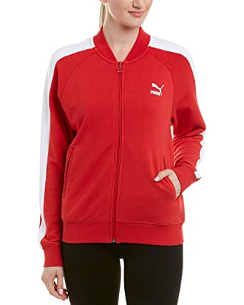 93bee8ad3ab9 PUMA Women s Classics T7 Track Jacket at Amazon Women s Clothing store