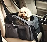 Pet Car Seat Carrier for Dog Cat ,Lookout Booster Seat (Large, Grey)
