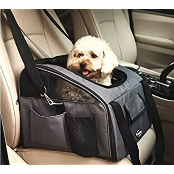 pettom pet car seat carrier airline approved dog cat lookout booster seat for pets. Black Bedroom Furniture Sets. Home Design Ideas