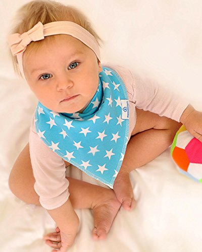 Baby Boy Bandana Drool Bibs - Set of 6 Cute Designs Extra-Soft Organic Cotton Bib for Delicate Skin, Perfect for Teething, Drooling, Breast Feeding, Burp & Spit-Up Messes, Outfit Accessory by maxamStars (Image #6)