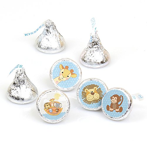 Noah's Ark - Baby Shower Round Candy Sticker Favors - Labels Fit Hershey's Kisses (1 Sheet of -