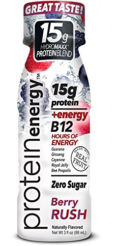 ProBalance The Original Protein 15 Plus Energy Shot, Berry Rush, 24 Count