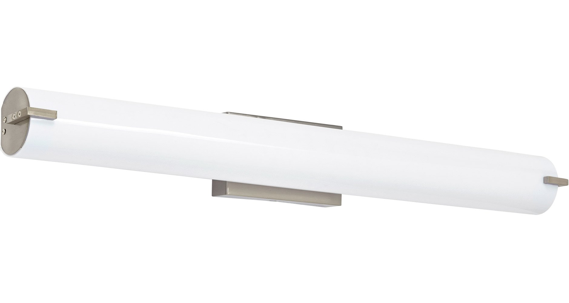 NEW Modern Frosted Bathroom Vanity Light Fixture | Contemporary Sleek Dimmable LED Cylinder Bar Design | Vertical or Horizontal Tube with Brushed Nickel Wall Sconce | 3000K Warm White