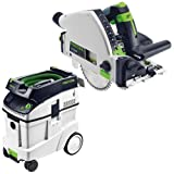 Cheap Festool P48561556 Plunge Cut Circular Saw with CT 48 E 12.7 Gallon HEPA Dust Extractor