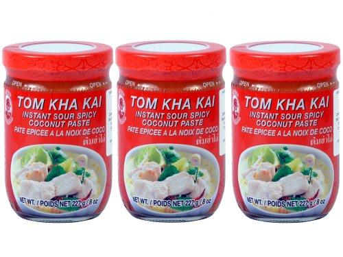 Cock - Tom Kha Kai Paste - 3er Pack (3 x 227g) - Original Thai