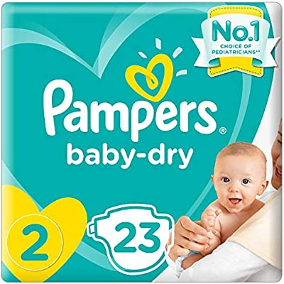 Pack of 2 Pampers Baby-Dry Pants Size 4 Carry Pack 23 Nappies