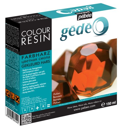 Paint Finish Pendants (Pebeo Gedeo Color Resin, 150ml, Amber)