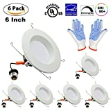 YUSON 6 PACK – 12Watt 5/6inch Led Recessed Lighting Fixtures(=100W), ENERGY STAR UL-Listed Dimmable LED Downlight , CRI 90, Warm White LED Retrofit Light,970LM,3000K Review