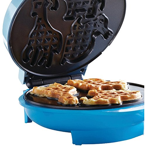Brentwood TS-253 Appliances Electric Food Maker-Animal-Shapes Waffle Maker, Blue by Brentwood (Image #5)