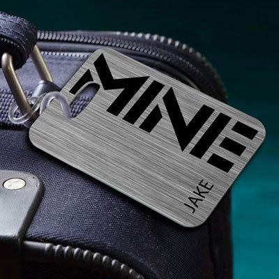 Bon Voyage Luggage Tags MINE Steel JDS