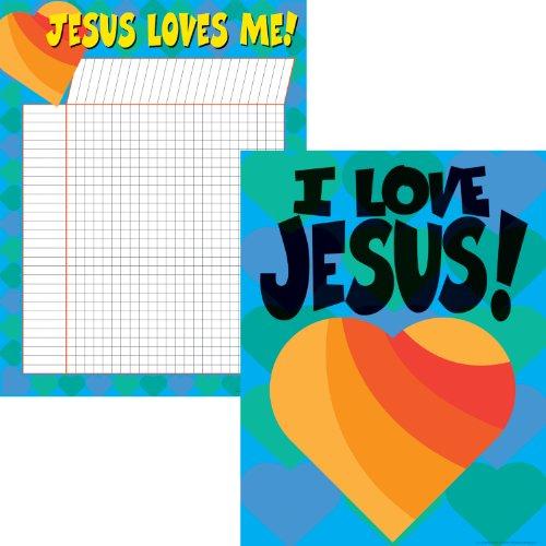 Christian Poster Chart - Barker Creek LL-516 Jesus Loves Me Chart Set