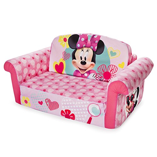 Marshmallow Furniture Minnie Mouse Childrens 2 In 1 Flip Open Foam