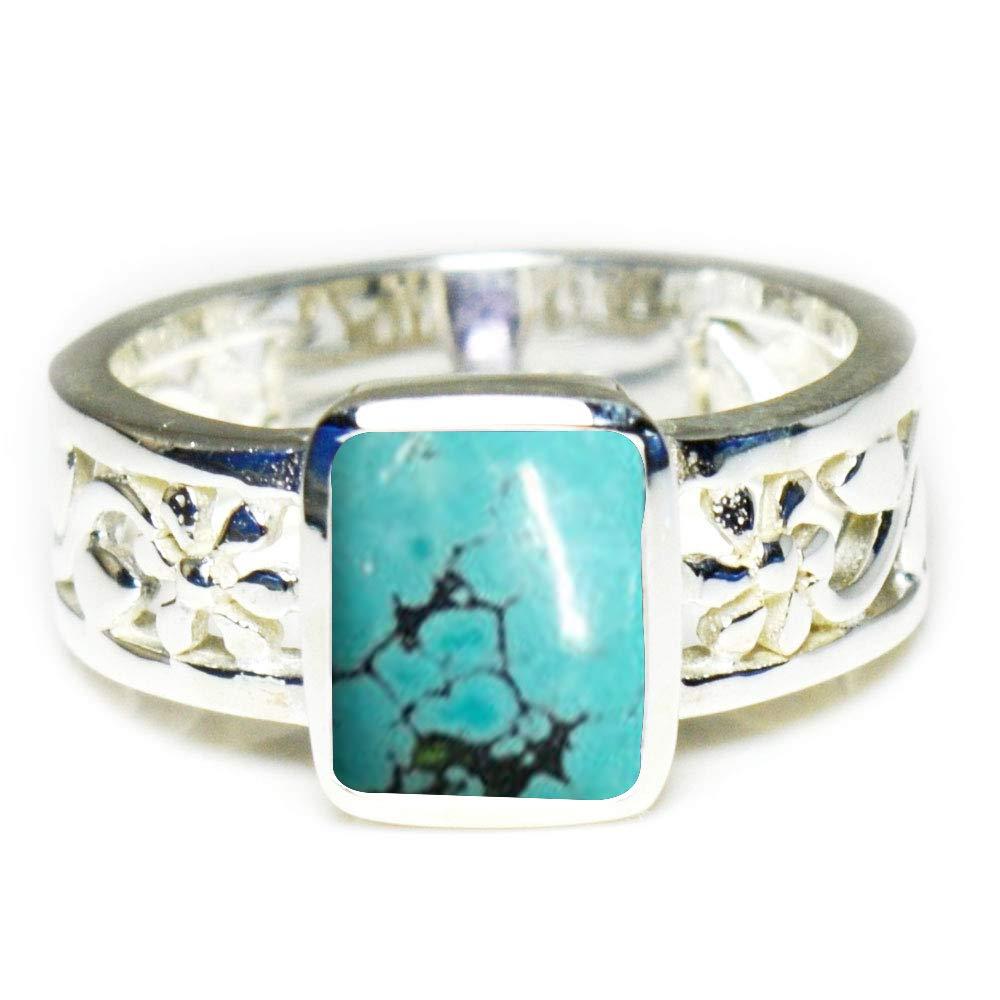 Gemsyogi Herren Ring aus Sterlingsilber mit natürlichem Stein, handgefertigt, Größen H bis Z Größen H bis Z 55CATMULDESN-07