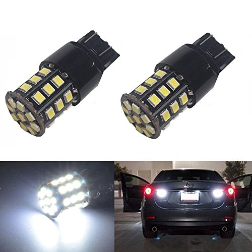 JDM ASTAR Super Bright AX-2835 Chipsets 7440 7441 7443 7444 992 LED Bulbs,Xenon White (Only used for backup reverse lights)