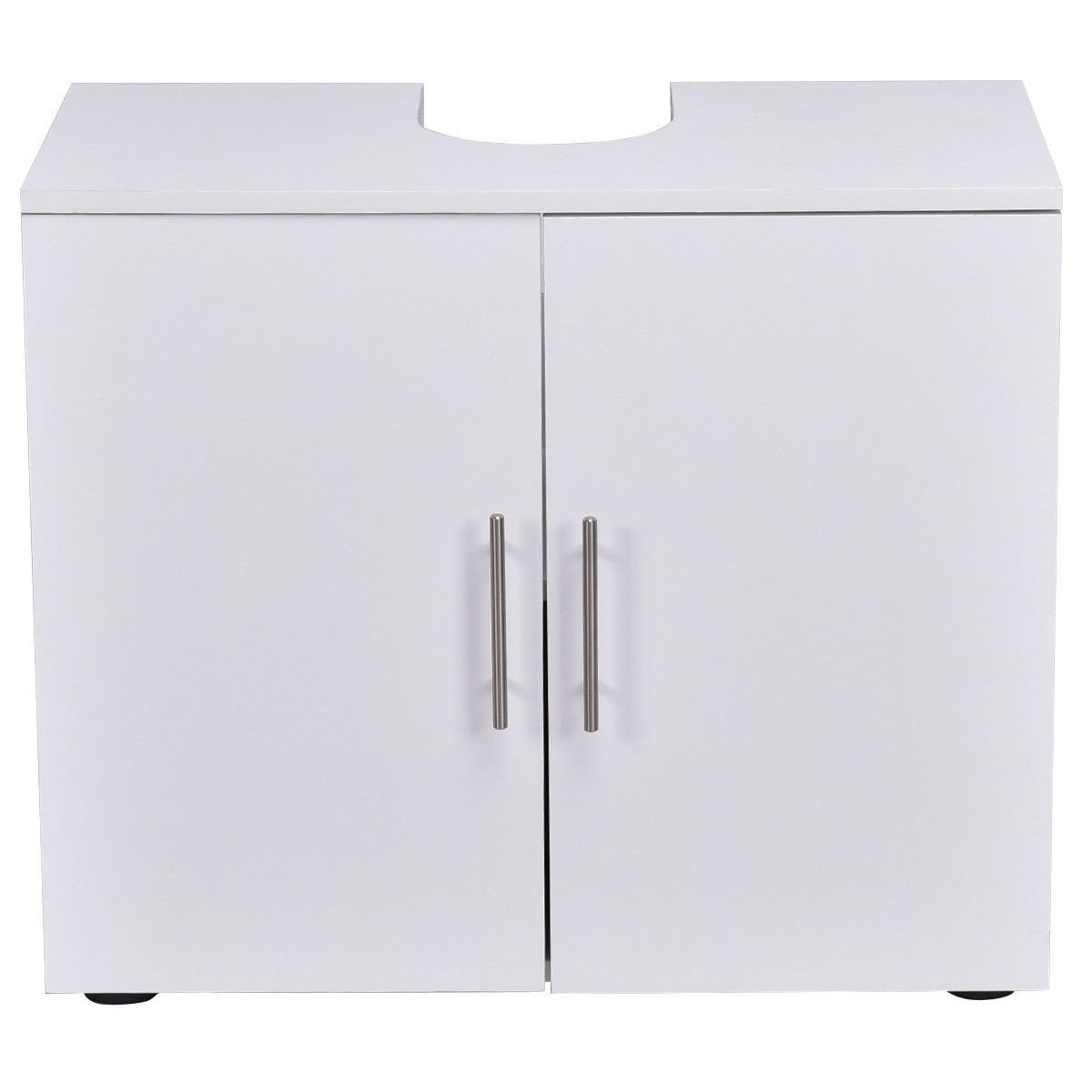 Storage Vanity Cabinet Bathroom Non Pedestal Under Sink Wall Mounted White Wood Furniture MD Group by MD Group (Image #4)