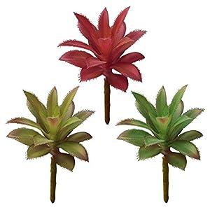 KICODE Grass Leaf Desert Artificial Plant Rare Garden Bonsai Fake Artificial DIY Wreath Craft Fake Flower Unpotted 3Pcs 49