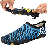 QTMS Womens Mens Lightweight Quick Dry Water Aqua Shoes for Swimming, Walking, Yoga, Beach, Park, Driving,Surf, A888,Blue,40