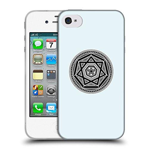 GoGoMobile Coque de Protection TPU Silicone Case pour // Q08240619 Mystique occulte 3 Bulles // Apple iPhone 4 4S 4G