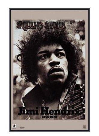 Jimi Hendrix Rolling Stone - 123Posters (22 x 34) Jimi Hendrix Rolling Stone Magazine 1970 Framed Print - Quality Black Metal Frame