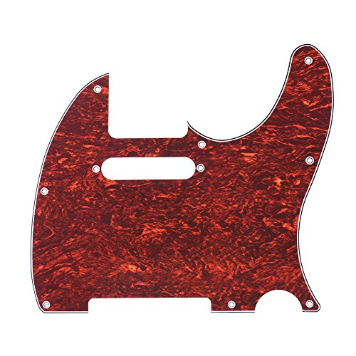 (ammoon Pickguard Pick Guard 4Ply for Fender Telecaster Standard Modern Style Electric Guitar Tortoise Shell)
