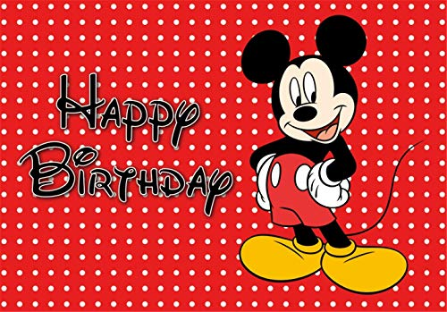- Red Mickey Mouse Polka Dot Photo Backdrop for Kids 5x7 Happy Birthday Photography Backdrops for Babies Customized Photo Backgrounds Tabeltop Newborn