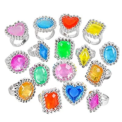 Rhode Island Novelty Plastic Jewel Rings, 24 Count Assortment: Toys & Games [5Bkhe0204086]